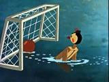 Water Polo Cartoon 1956 USSR - fair play lesson