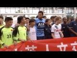 Кристиан Эриксен и Муса Дембеле на встрече со студентами из Китая