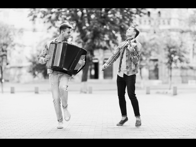 Miley Cyrus - Wrecking Ball ( MODERN FLY) Button accordion and violin cover version. Ukrainian guys.