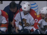 Aleksander Barkov Injury After Blocking Shot With His Hand (102215)