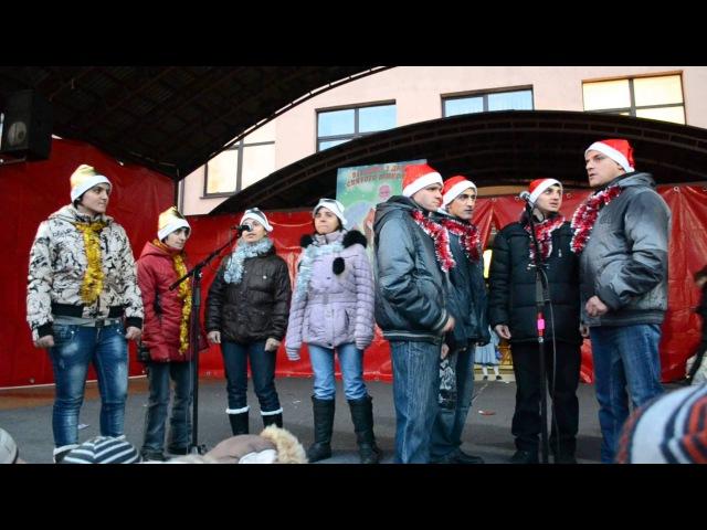 Дитячі танці та співи на відкритті Новорічно-Різдвяної красуні у Тячеві