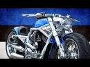 Harley Davidson VRod Blue by FREDY | Motorcycle Muscle Custom Review Sound Exhaust