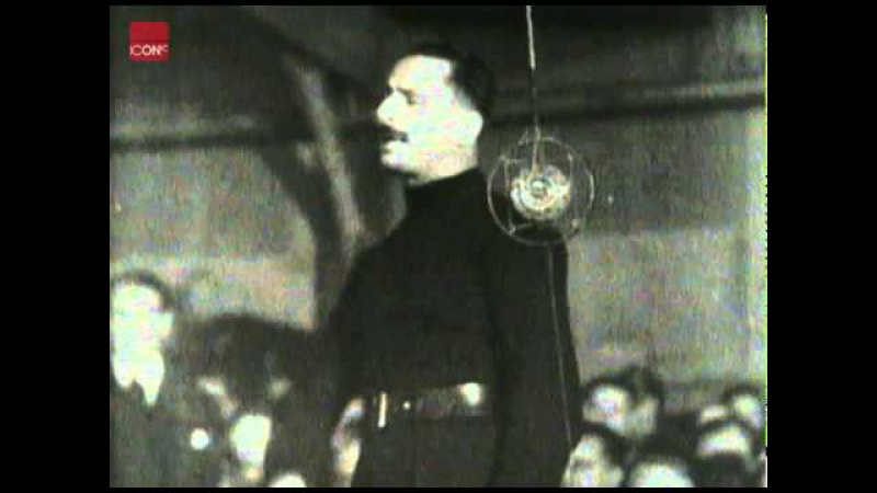 Oswald Mosley giving a Fiery speech at a Manchester blackshirt rally