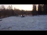 Самодельные снегоходы в тайге