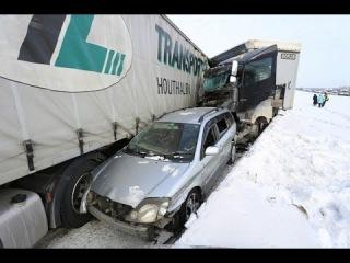 Авария в Челябенской облости на трассе м5 29.01.2016