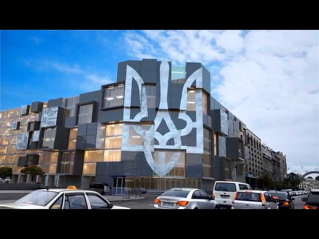 Новый Дом Профсоюзов на Майдане в Киеве / New building in Kiev Maidan