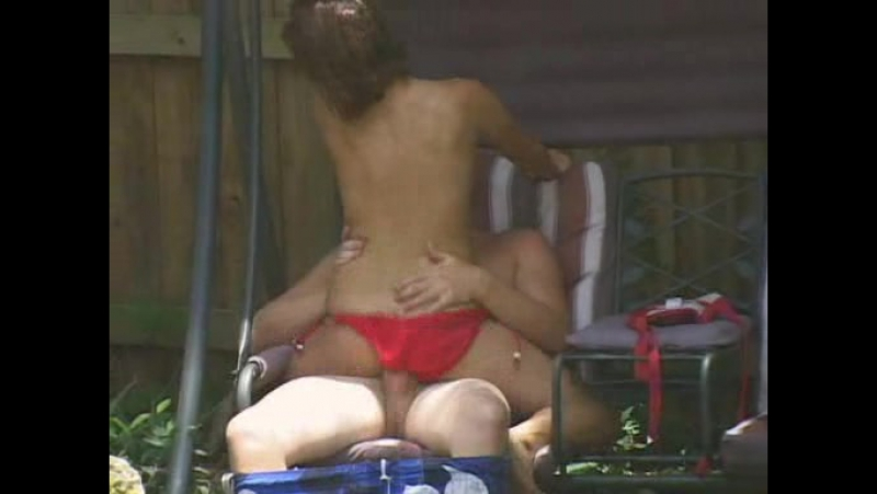 Backyard voyeur sex tape