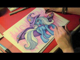 Как рисовать пони Трикси (drawing MLP Trixie)