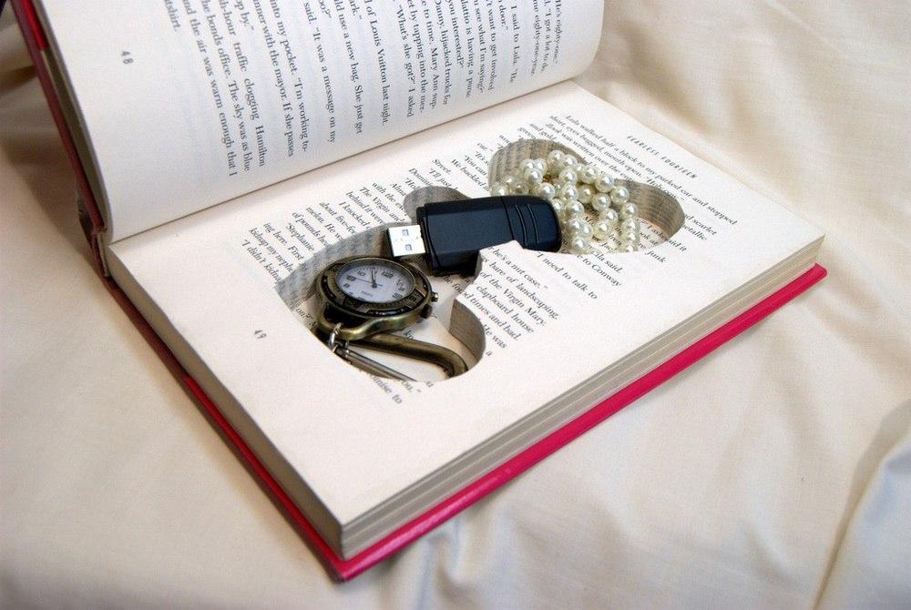 Как сделать тайник в книги