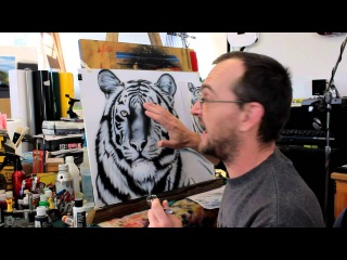 how to airbrush a tiger как нарисовать тигра аэрографом