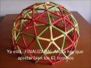 Cúpula geodésica V3 (5/8) de papel - Geodesic dome V3