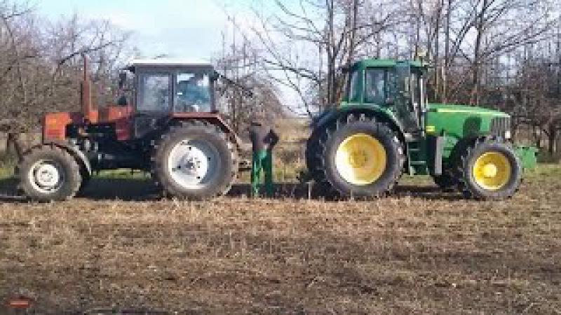 Битва тракторов – MTZ Беларус 1221 vs John Deere 6820, кто кого?