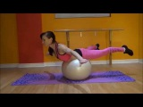 70 exercises with fitball. From easy to hardest.
