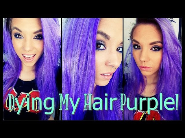 Dying My Hair PURPLE! | La Riche Directions in 'Violet'❤