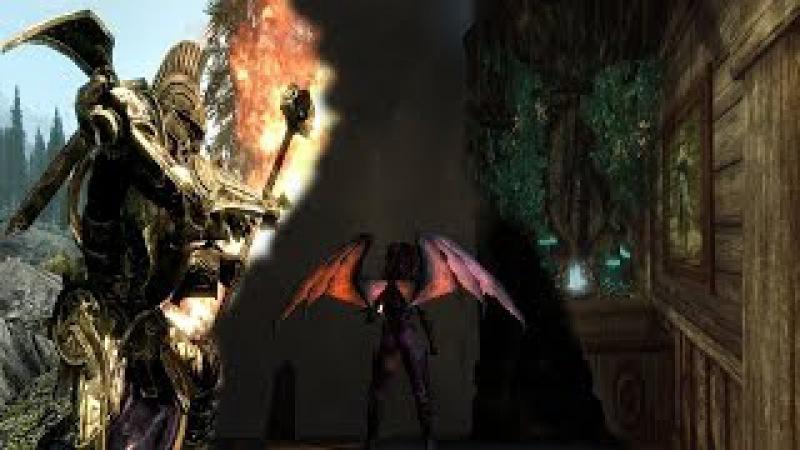 Skyrim обзор модов: Space Wiking Dwemer Exoskeleton; Animated Dragon Wings; Thief's Hideout.