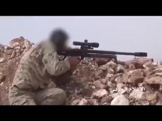 СИРИЯ Снайпер убивает боевика