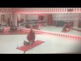 Турецкий подъём с олимпийским грифом (перерывчик на работе=)