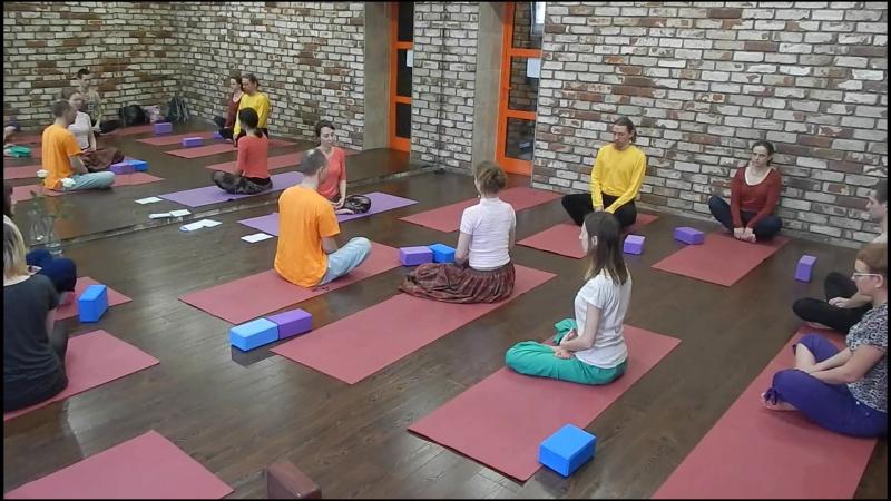 3 часть. Мастер класс по Трай-Йоге в Yoga Loft Иркутск 14.02.2016