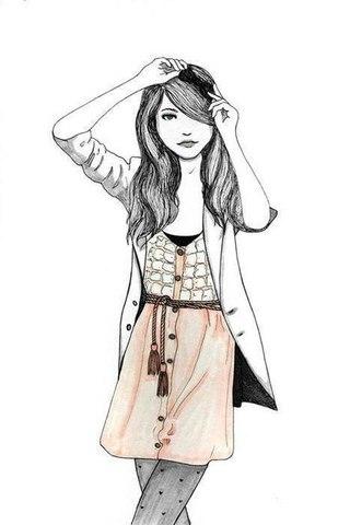 Картинки для лд для распечатки для девочек красивые чёрно белые - 35f73