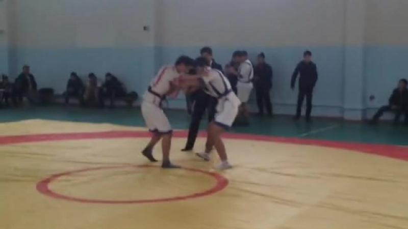 66-кг финал 29.11.2015 Абдукаримов ДастанЛесбеков Нуркас