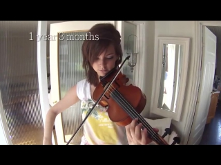 Adult beginner violinist 2 years progress video
