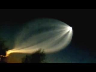 Запуск ракеты-носителя в России. Снято в Пермском крае.