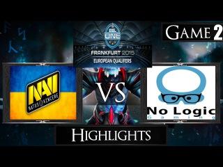 Dota 2 reborn 6 85 Navi vs No Logic Gaming Game 2 Highlights The Frankfurt Major EU Qualifier