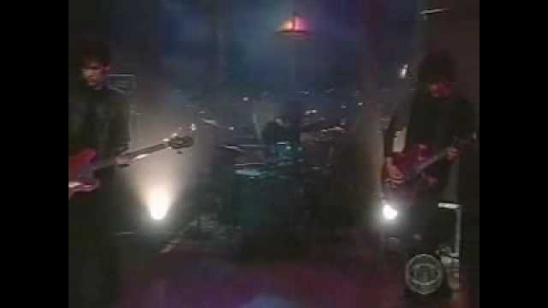 Black rebel motorcycle club Red eyes and tears Live on The Late Show with Craig Kilborn