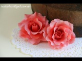 простой способ сделать розы из мастики