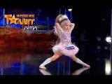 Блистательный диско-танец  4-летней Тани. Второй кастинг в Киеве. Сезон 1. Выпуск 2 ...