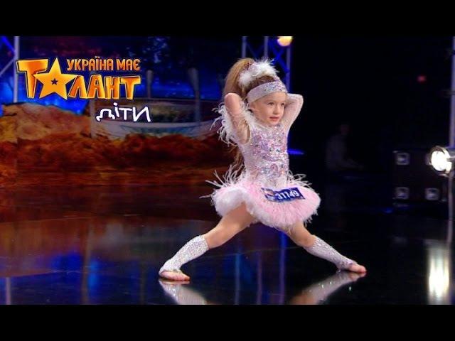 Блистательный диско танец 4 летней Тани Второй кастинг в Киеве Сезон 1 Выпуск 2 от 05 03 16