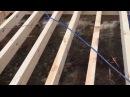 День 2. Укладка ОСП OSB на лаги пола обвязка. Как построить каркасный дом своими руками