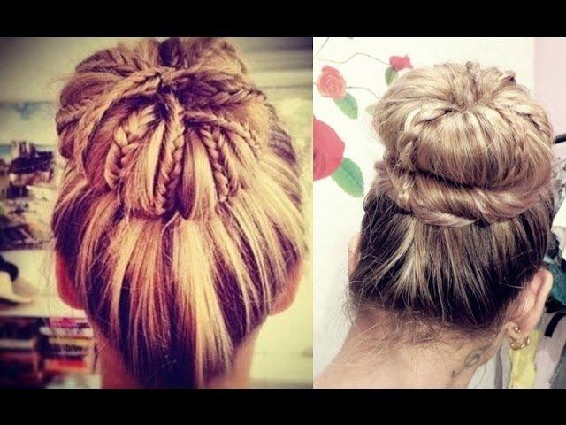Coque Diferente com tranças - Braided Sock Bun Updo Hair Tutorial » Freewka.com - Смотреть онлайн в хорощем качестве