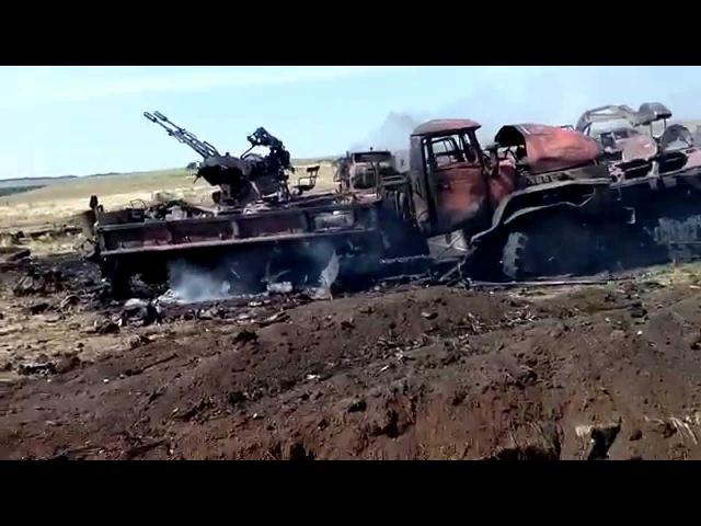 72-ая бригада ВСУ после обстрела Градом/72 brigade of UAF after Grad shelling
