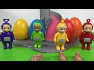 Tomy Teletubbies Home Hill Playset tinky winky dipsy laa laa po noo-noo surprise eggs