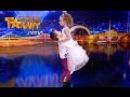 Милый детский бальный танец - Саша Дырин и Вика Балджы. Украина мае талант дети 12....