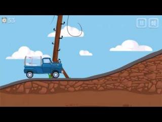 Машинки Мультик Игра про Машинки. Синий грузовичок перевозит молоко