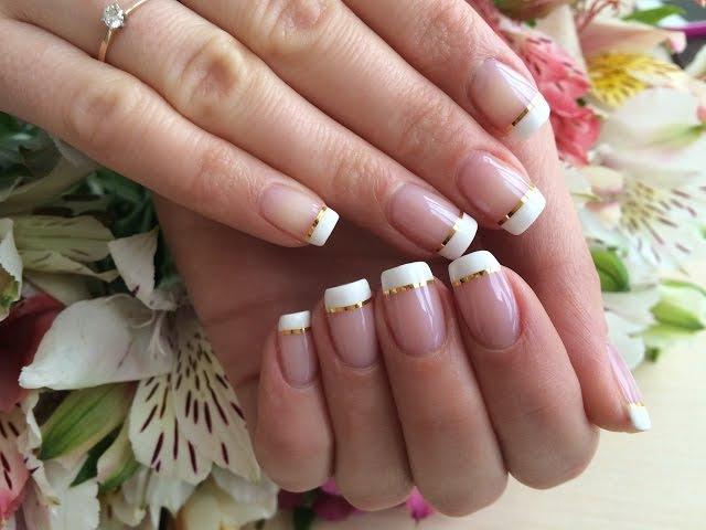 Французский Маникюр С Лентой (Дизайн Ногтей) (Nail Art Designs)