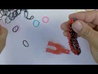 Браслет из резинок ФРАНЦУЗСКАЯ КОСА. Как плести браслеты  из резинок. Урок #4
