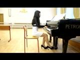 Хатико_Реквием_Oltremare на пианино..Девочка классно играет - 480P