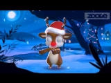 Поздравление с Рождеством от Оленя))