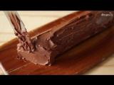 Как приготовить торт Шоколадное полено_ видео-рецепт