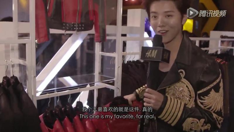 151103 BALMAIN X HM Launch Party in China - Luhan cut