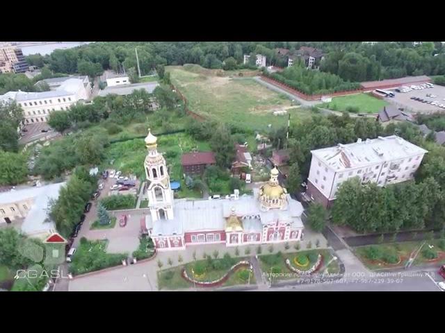Аэросъемка Варваринской церкви у Сибирской заставы г Казань