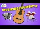 Musikinstrumente Bezeichnungen und deren Klang lernen für Kinder deutsch