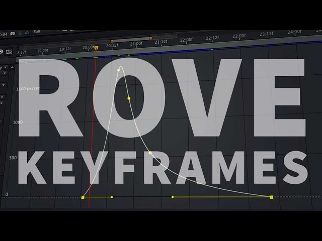 Roving Keyframes or roved or roves Adobe After Effects tutorial