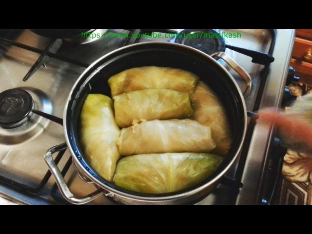 Голубцы с картошкой рецепт Голубці з картоплею рецепт Голубцы в духовке пригото...