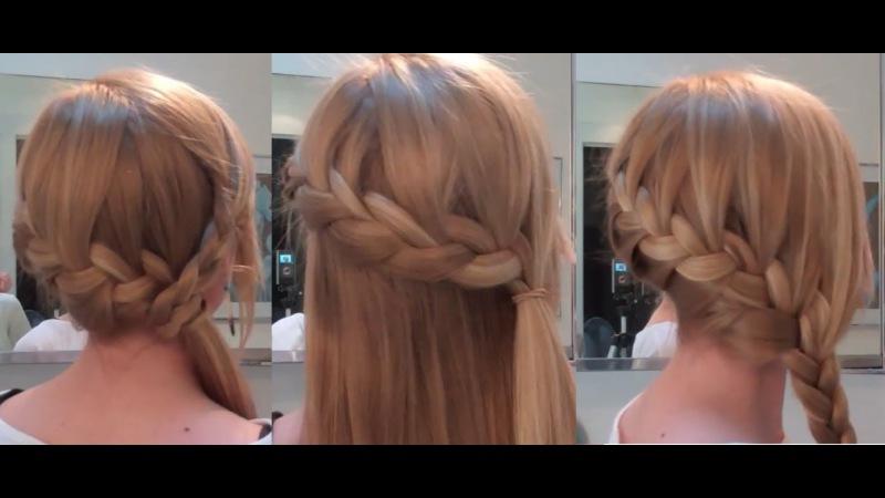 Быстрые прически на длинные волосы в домашних условиях видео