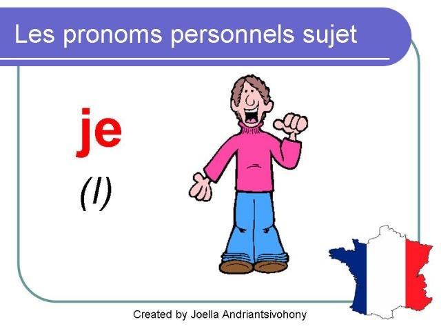 French Lesson 12 - Subject pronouns in French Pronoms personnels sujet Pronombres personales francés