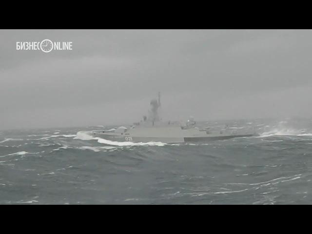 Как зеленодольские корабли противостоят семибалльному шторму